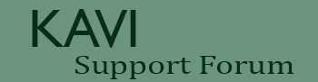 KAVI Support Forum